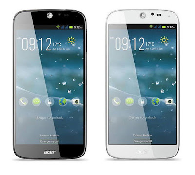 Acer Liquid Jade Specifications - LAUNCH Announced 2014, June DISPLAY Type IPS LCD capacitive touchscreen, 16M colors Size 5.0 inches (~71.1% screen-to-body ratio) Resolution 720 x 1280 pixels (~294 ppi pixel density) Multitouch Yes Protection Corning Gorilla Glass 3 BODY Dimensions 140.5 x 69 x 7.5 mm (5.53 x 2.72 x 0.30 in) Weight 110 g (3.88 oz) SIM Dual SIM (Micro-SIM, dual stand-by) PLATFORM OS Android OS, v4.4.2 (KitKat) CPU Quad-core 1.3 GHz Cortex-A7 Chipset Mediatek MT6582 GPU Mali-400MP2 MEMORY Card slot microSD, up to 32 GB (uses SIM 2 slot) Internal 8 GB, 1 GB RAM - Liquid Jade 16 GB, 2 GB RAM - Liquid Jade Plus CAMERA Primary 13 MP, autofocus, LED flash Secondary 2 MP Features Geo-tagging Video 1080p NETWORK Technology GSM / HSPA 2G bands GSM 850 / 900 / 1800 / 1900 - SIM 1 & SIM 2 3G bands HSDPA 900 / 2100 Speed HSPA GPRS Yes EDGE Yes COMMS WLAN Wi-Fi 802.11 b/g/n, hotspot GPS Yes, with A-GPS USB microUSB v2.0 Radio FM radio Bluetooth v4.0, A2DP FEATURES Sensors Accelerometer, proximity, compass Messaging SMS (threaded view), MMS, Email, Push Email Browser HTML Java No SOUND Alert types Vibration; MP3, WAV ringtones Loudspeaker Yes 3.5mm jack Yes  - DTS sound BATTERY  Non-removable Li-Ion 2100 mAh battery Stand-by Up to 330 h (3G) Talk time Up to 5 h (3G) Music play  MISC Colors Black, White, Green, Pink, Gray  - MP3/WAV/AAC player - MP4/H.264 player - Photo viewer/editor - Voice memo/dial