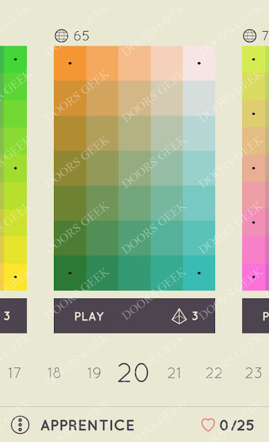 I Love Hue Apprentice Level 20 Solution, Cheats, Walkthrough