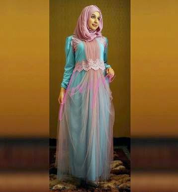 Gambar Gaun Muslim Modis dan Cantik Terbaru