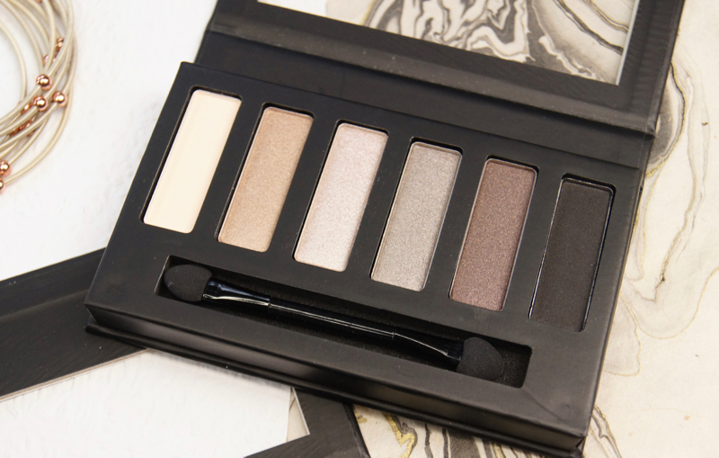collection eyes uncovered nude grey eyeshadow palette review swatches