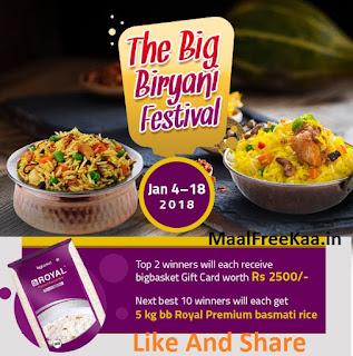 Free Biryani Contest