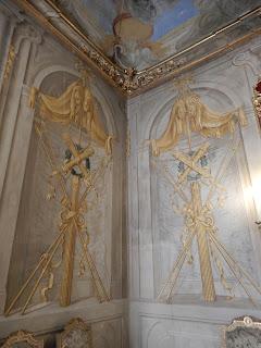 ジェノヴァのMuseo di Palazzo Realeの壁装飾