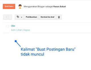 Hasan Askari: Tutorial Blogger Lengkap Menggunakan HP - #5 Mengenal fitur pada menu Postingan gambar 4