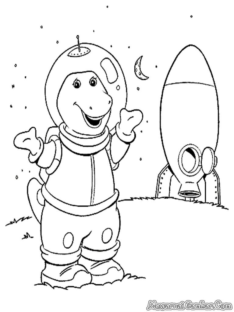 Gambar Astronot Untuk Mewarnai B Warna