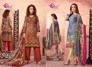 Devi Nargis Pure Lawn Cotton Dress Material catalog