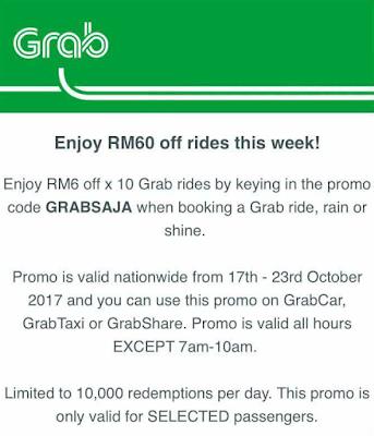 Grab Promo Code Malaysia