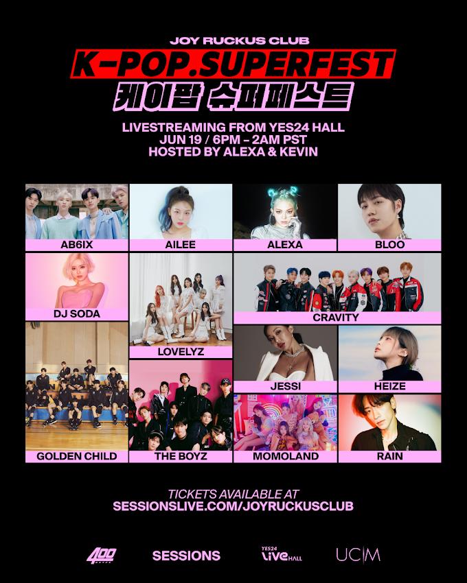 Joy Ruckus Club to Present K-Pop SuperFest Featuring The Boyz, Rain, Golden Child and More!