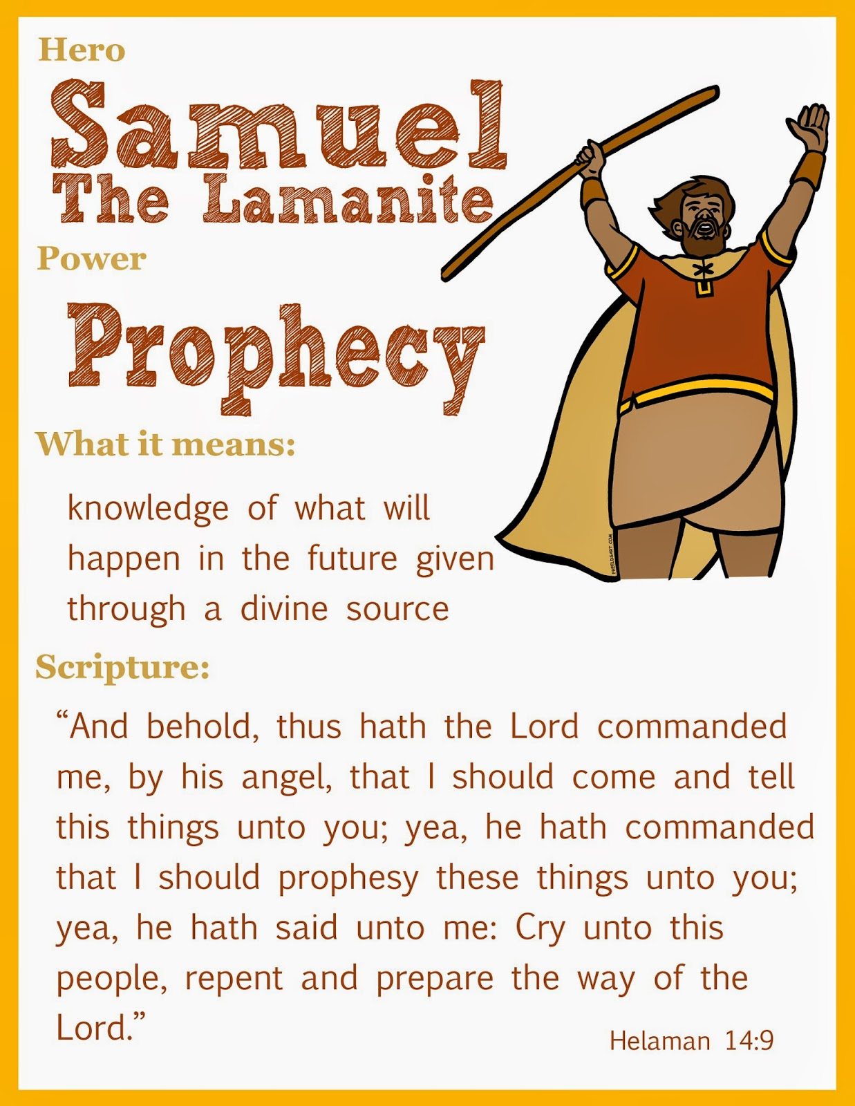 This Lds Mom Scripture Heroes Samuel The Lamanite