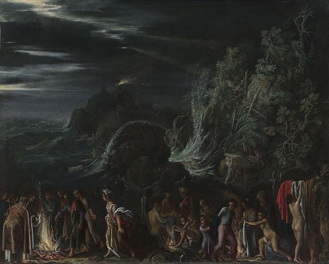 Adam Elsheimer - San Pablo en Malta - c. 1600