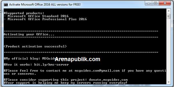 Aktifasi Microsoft Office 2016 Tanpa Software