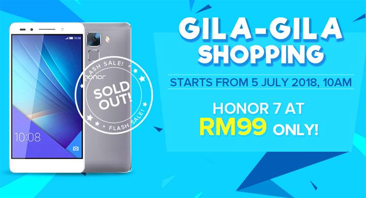 Honor 7 Ditawarkan Dengan Harga Cuma RM99