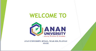 ANAN University Kwall Vacancy for Academic Positions 2021