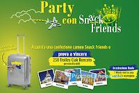 """Logo Cameo ''""""Party con Snack Friends'' :vinci 250 Trolley Ciak Roncato e soggiorno in città Europea"""