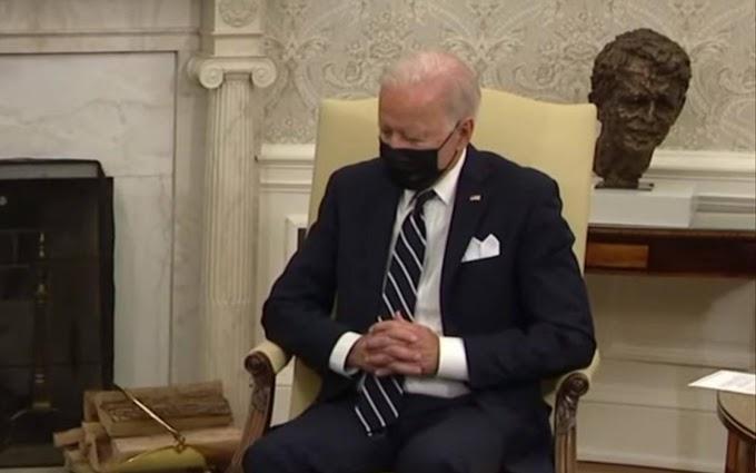 Joe Biden elaludhatott az izraeli miniszterelnökkel tartott sajtótájékoztatón – videó
