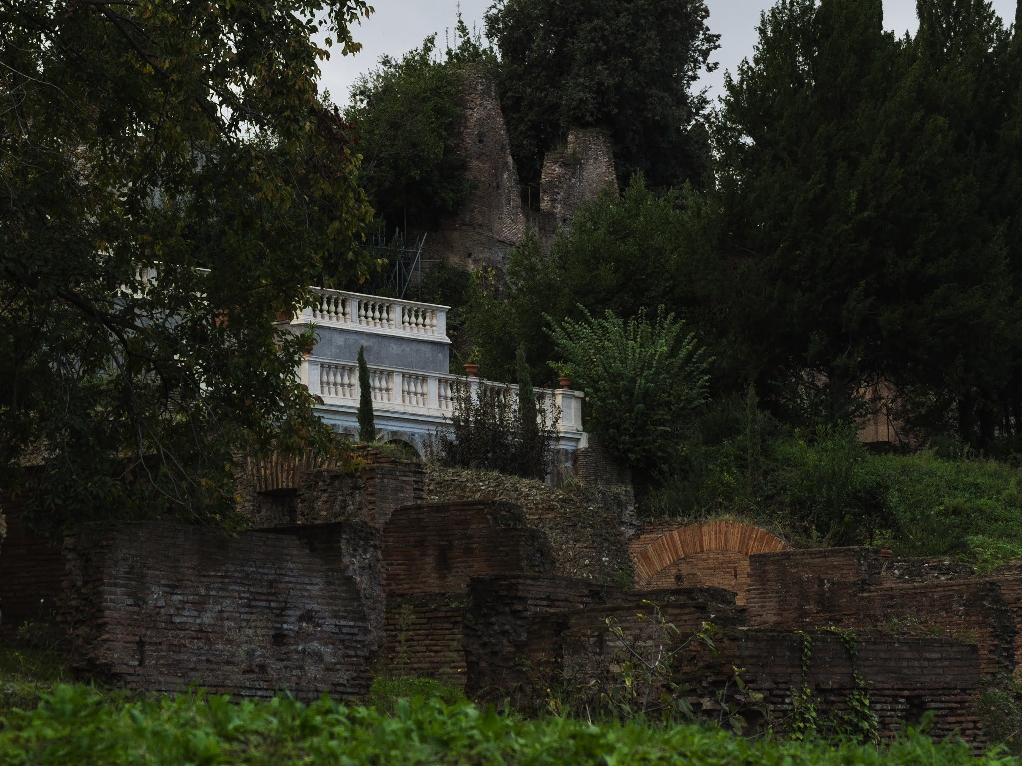 Farnese Gardens balcony on the Palatine Hill from the Roman Forum.