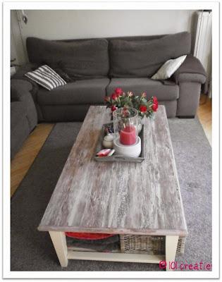 Gepimpte salontafel