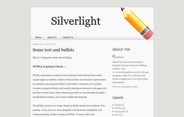 Silverlight Blogger Teması