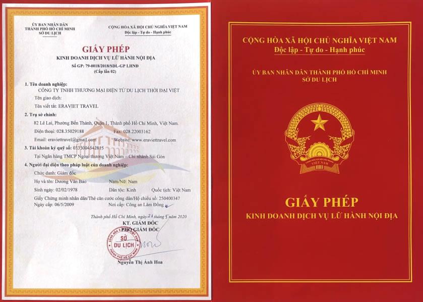 Giấy phép kinh doanh công ty Thời Đại Việt