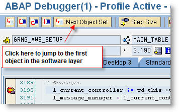 Layer-Aware Debugging in NW 7.0 EHP2