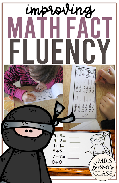 Math fact fluency pack for practice with addition and subtraction math facts for fluency and automacy in First Grade and Second Grade