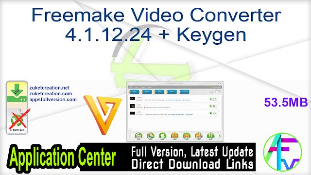 Freemake Video Converter 4.1.12.24 + Keygen