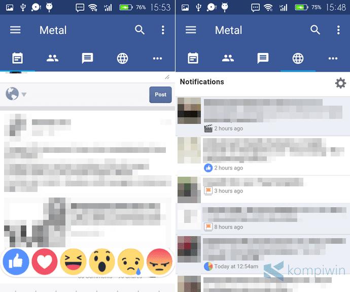 metal app facebook twitter