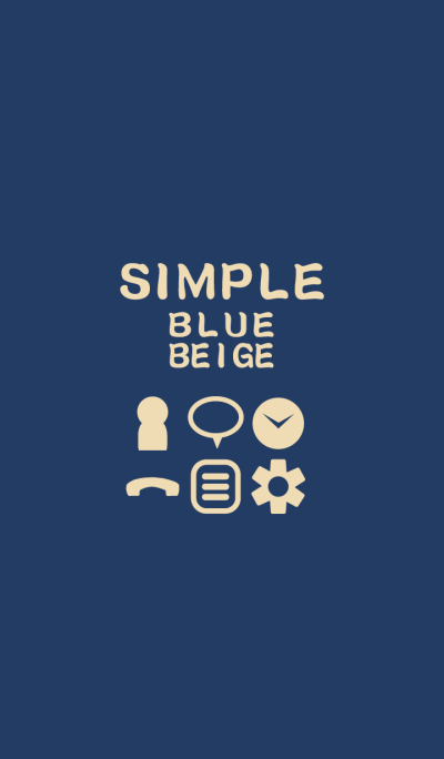 SIMPLE blue*beige