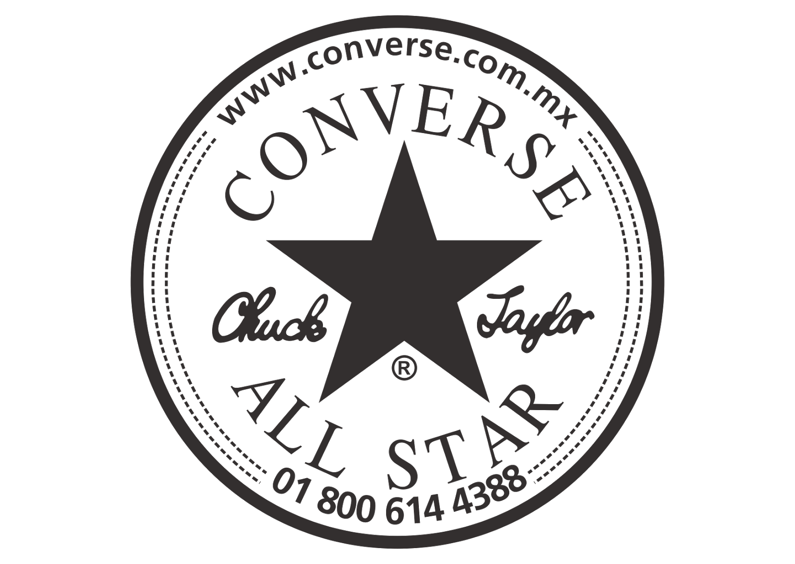 Converse All Star Logo Vector (Black-White) ~ Format Cdr