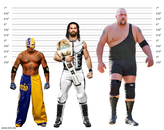 Seth Rollins with Rey Mysterio and Big Show