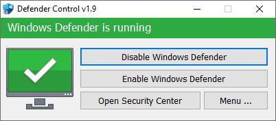 Defender Control v1.9