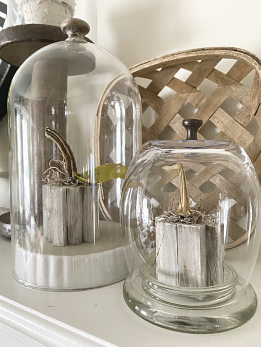 cloches on mantel