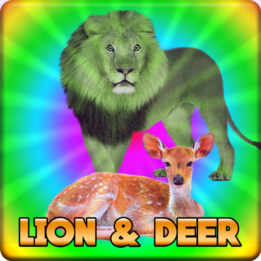 Lion And Deer Escape