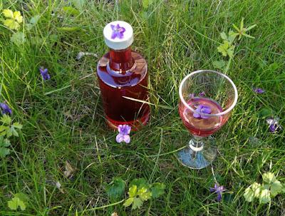 Veilchenlikör (Crème de Violette); Veilchenlikör (Crème de Violette) selbermachen