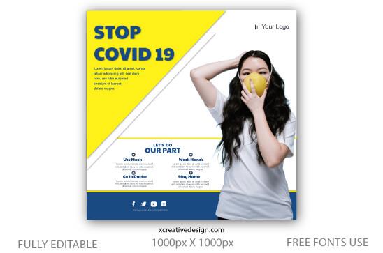 Corona virus Prevention Social Media Post Template