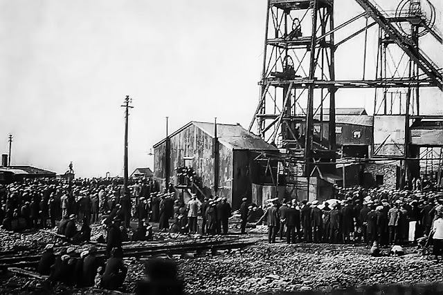 Members Of Public Await News Following Disaster At Haig Colliery