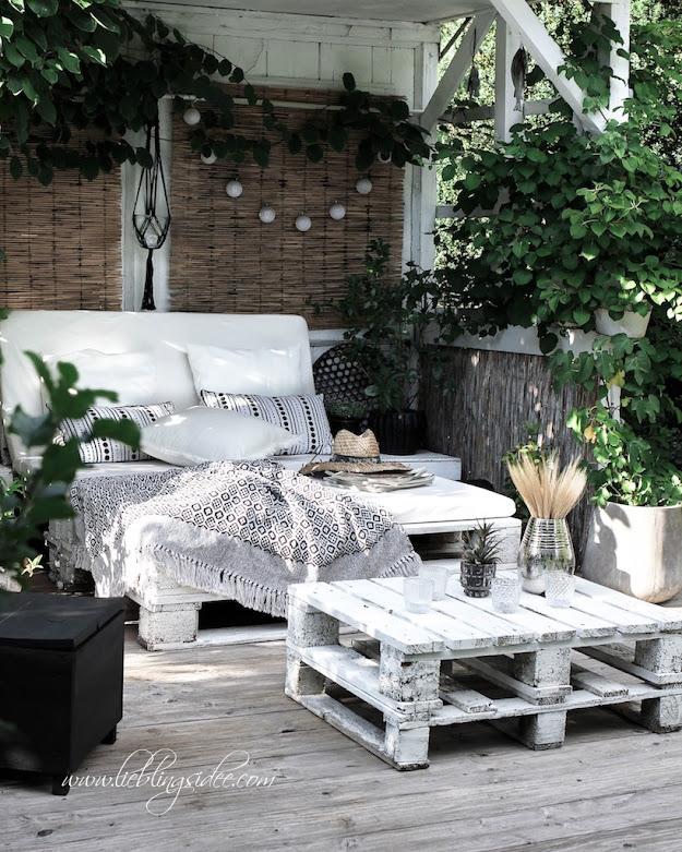 Garten Beachhouse Chill Lounge Palettensofa DIY Gartendeko Shop Lieblingsidee