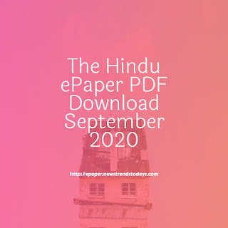 The Hindu ePaper PDF Download September 2020