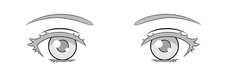 Menggambar mata cahaya anime