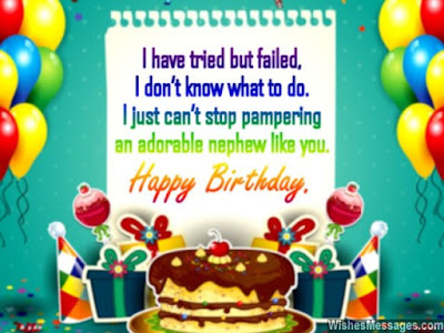 Happy Birthday wishes for nephew: i have tried but falled,