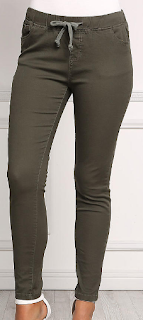 love culture olive drawstring skinny jeans