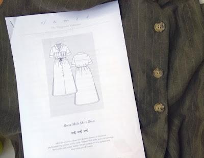 reeta dress named clothing - stoff und schnittzeichnung