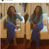 LINDA IKEJI GLOWS IN BLUE OUTFIT WITH SOME WORDS TO ENCOURAGE...