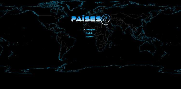 mapa ibge clicável estatistíco países