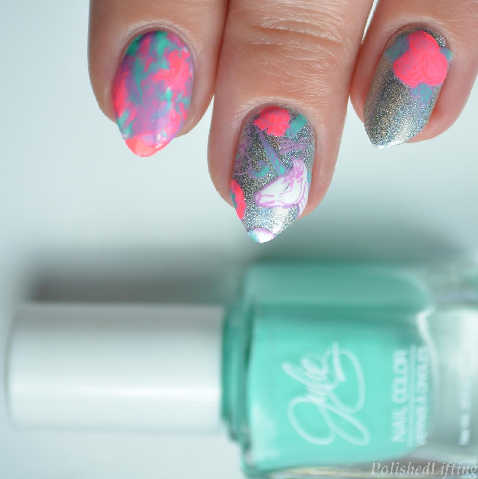 Polished Lifting: Neon Unicorn Stamping featuring Harunouta & JulieG