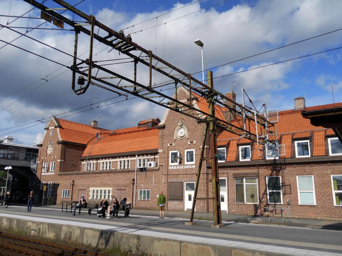 La stazione dei treni di Hässleholm