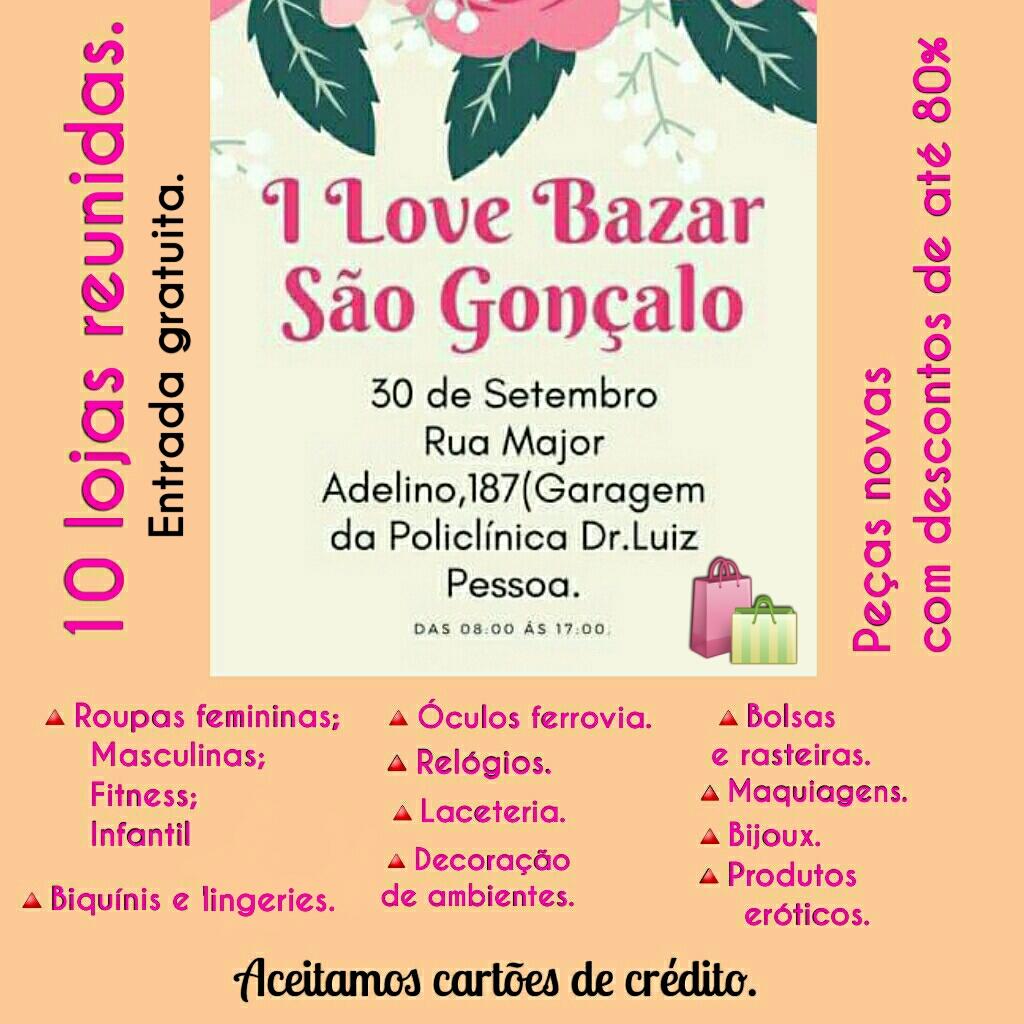 SGA Notícias  I Love Bazar São Gonçalo - 30 09 2017 29fd1ab1465