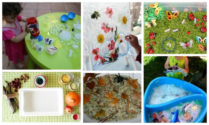 ejemplos de cajas sensoriales para acompañar libros y cuentos de estaciones año