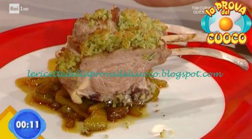 Costolette in crosta con peperoni in agrodolce ricetta Marsetti da Prova del Cuoco