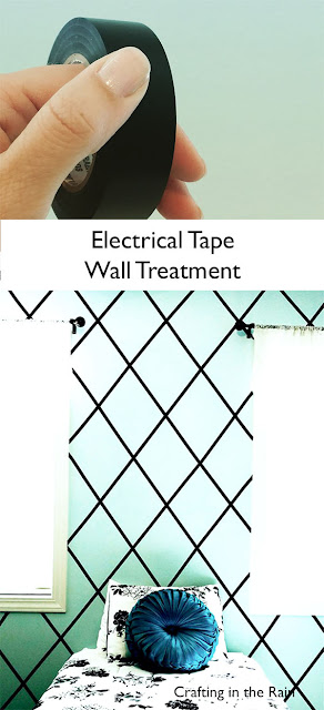 electrical tape on the walls