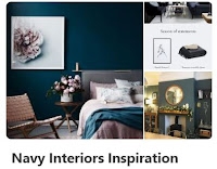 navy interior design pintrest board cover